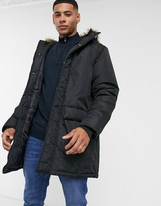 Read more about French connection faux fur hood parka jacket in black