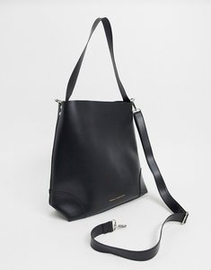 Read more about French connection faux leather clean classic tote bag-black
