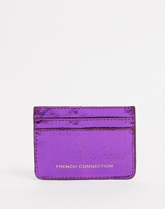 Read more about French connection faux leather croc card holder-pink