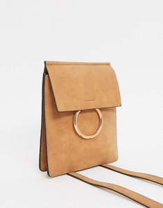 Read more about French connection faux leatherand suede cross body chain trim bag-brown