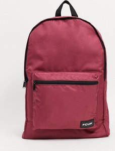 Read more about French connection fcuk logo backpack in burgundy-red