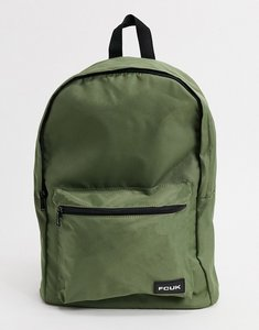Read more about French connection fcuk logo backpack in khaki-green