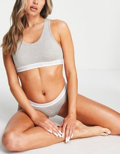 Read more about French connection fcuk logo bra and brief set in grey