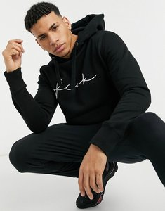 Read more about French connection fcuk scribble logo hoodie co-ord in black