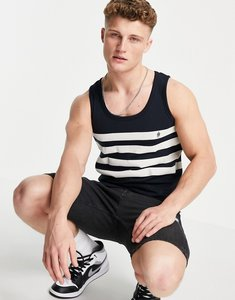 Read more about French connection four stripe vest in black-multi