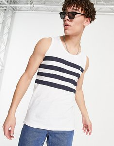 Read more about French connection four stripe vest in white-multi