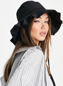 Read more about French connection frill bucket hat in black