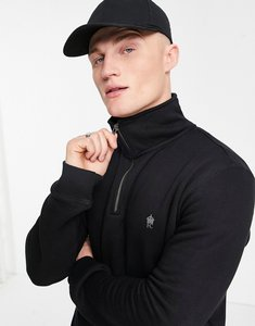 Read more about French connection funnel neck half zip sweatshirt in black