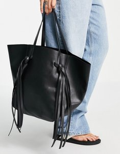 Read more about French connection geo tote bag in black