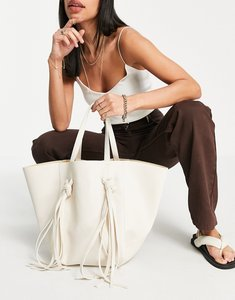 Read more about French connection geo tote bag in white