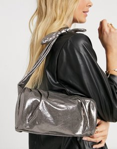Read more about French connection handbag with knot tie in silver