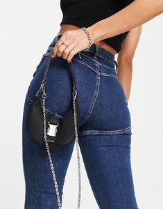 Read more about French connection hobo shoulder bag in black with hardware detail