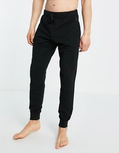 Read more about French connection jersey lounge joggers in black and gunmetal