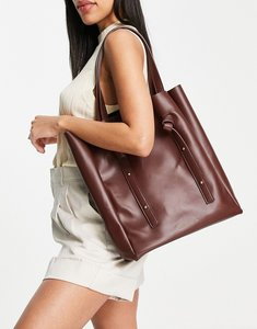 Read more about French connection knot strap tote bag in brown