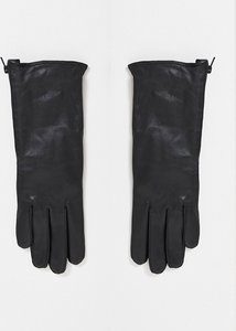 Read more about French connection leather gloves in black