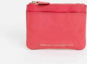 Read more about French connection leather zip purse with card slot in pink