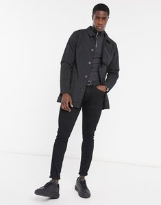 Read more about French connection lined mac jacket in black