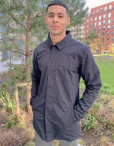 Read more about French connection lined mac jacket in navy
