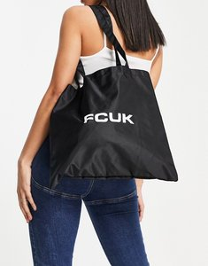 Read more about French connection logo tote bag in black and white-multi