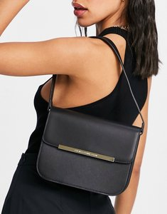 Read more about French connection metal hardware shoulder bag in black