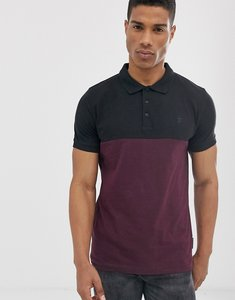 Read more about French connection organic cotton polo in colour block black