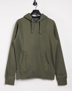Read more about French connection overhead hoodie with logo in khaki-green