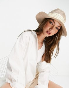 Read more about French connection pattern weave sun hat in natural-neutral