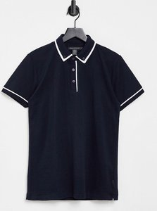 Read more about French connection piping polo in navy-blue