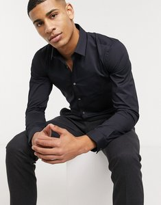 Read more about French connection plain stretch skinny fit shirt-navy