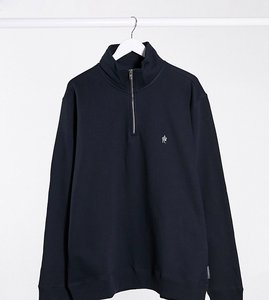 Read more about French connection plus funnel neck half zip sweatshirt in navy