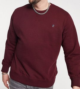 Read more about French connection plus sweatshirt with logo in burgundy-red