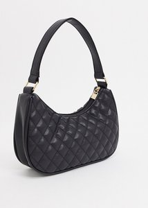 Read more about French connection quilted 90 s baguette shoulder bag-black