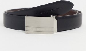 Read more about French connection rectangle reversible belt in black and brown
