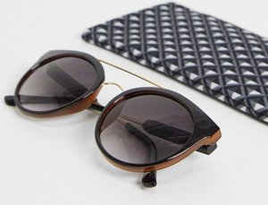 Read more about French connection round lens sunglasses-black