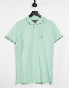 Read more about French connection single tipped pique polo in sage-green