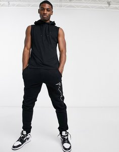 Read more about French connection sleeveless hoodie in black
