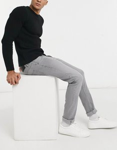 Read more about French connection slim fit stretch jeans in grey wash-black