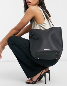 Read more about French connection slouchy tote in black