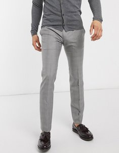 Read more about French connection smart trousers check prince of wales in skinny fit-black