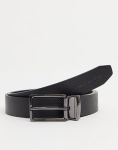 Read more about French connection square textured revesible belt in black