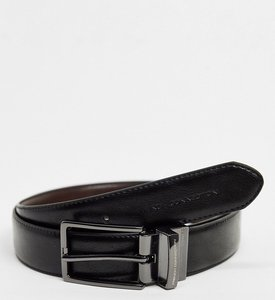 Read more about French connection stitch line reversible belt in black and brown