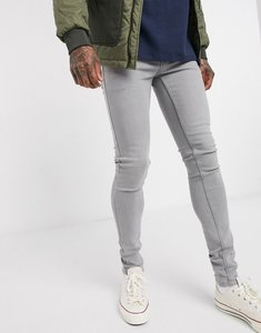 Read more about French connection super skinny grey wash jeans-black