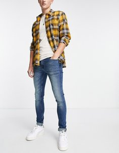 Read more about French connection super skinny stretch jeans in blue-navy