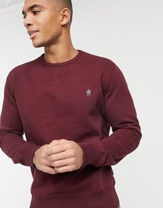 Read more about French connection sweatshirt with logo in burgundy-red