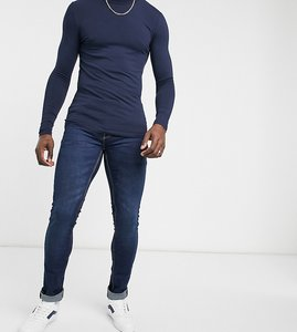 Read more about French connection tall slim fit stretch jeans in dark blue