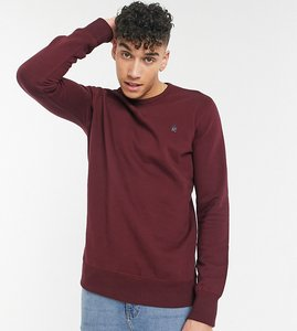 Read more about French connection tall sweatshirt with logo in burgundy-red