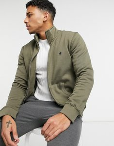 Read more about French connection zip through funnel bomber jacket in khaki-green