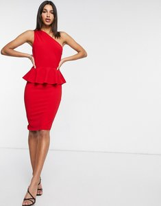 Read more about Girl in mind one shoulder midi dress in red
