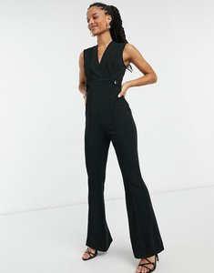 Read more about Girl in mind wide leg jumpsuit in black