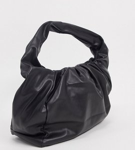 Read more about Glamorous exclusive slouchy ruched tote bag in black
